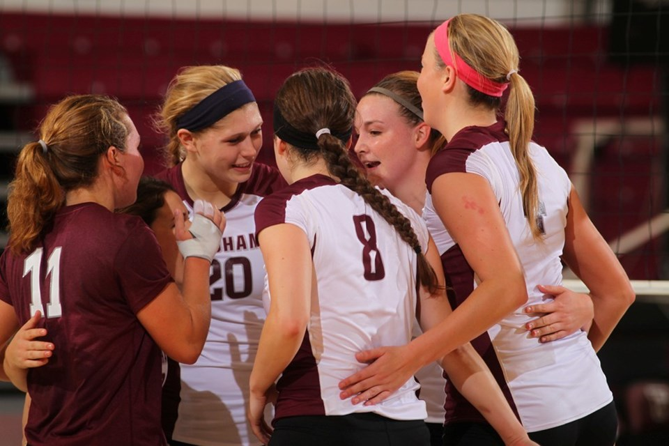Volleyball Splits A Pair At Columbia Invitational Fordham