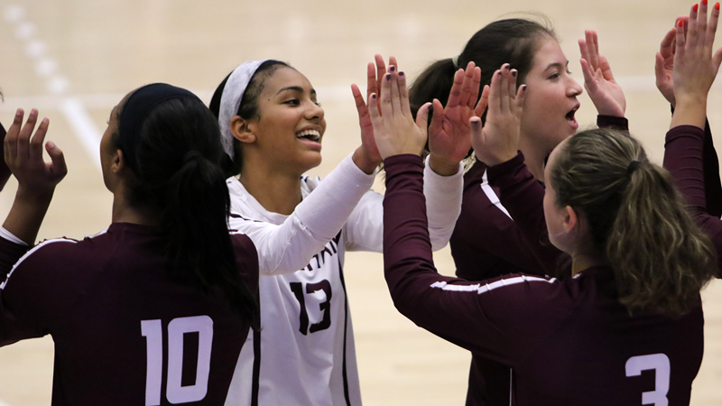 Volleyball Sets Two New Records in Saturday Split