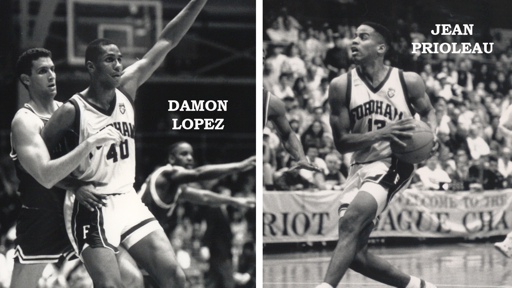 Damon Lopez and Jean Prioleau in action in 1991