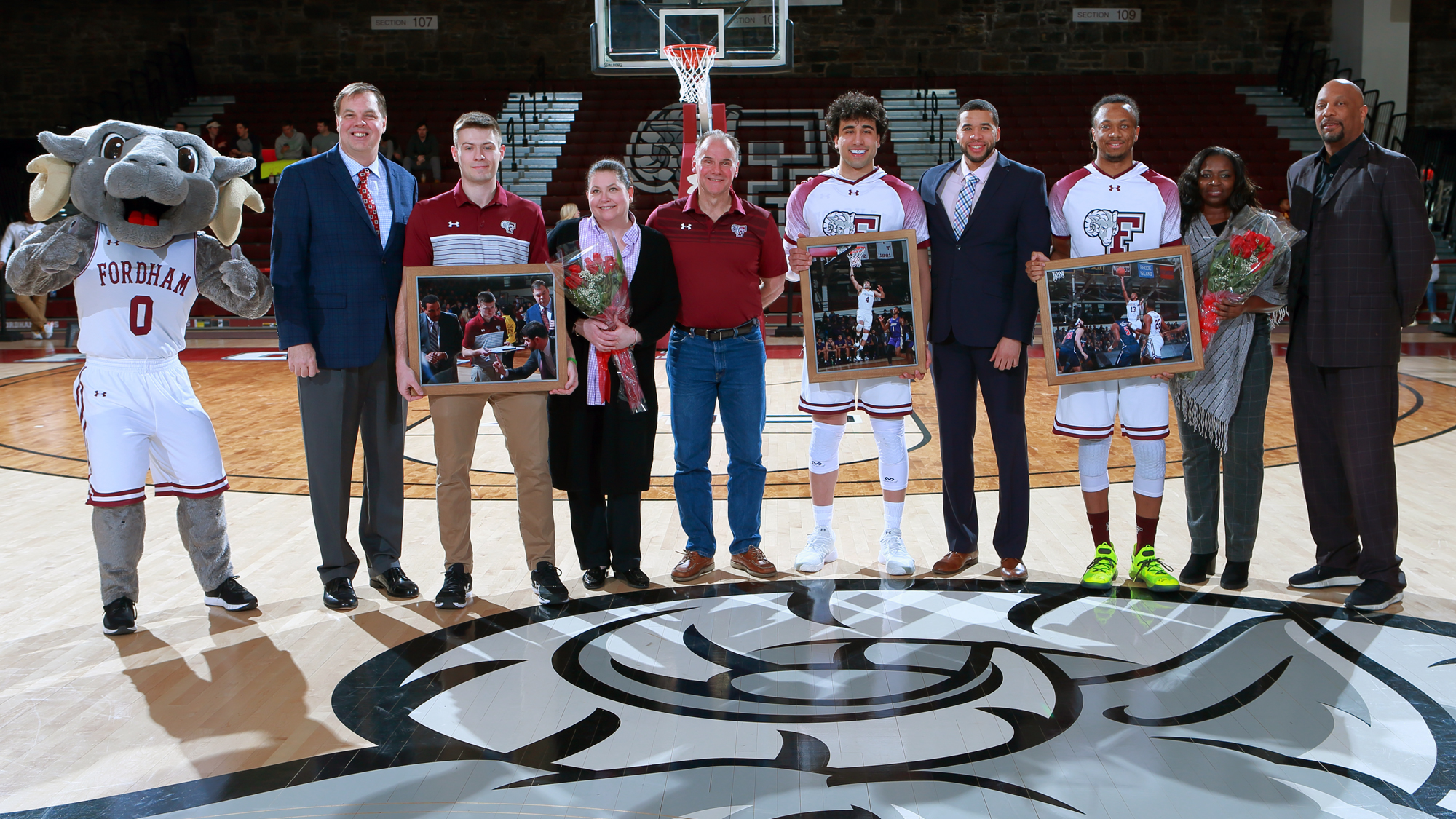 The Fordham seniors and their families